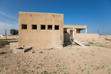 ras: Abandoned house, Old Ras Al Khaimah abandoned ghost town, Al Jazirah Al Hamra. Stock Photo