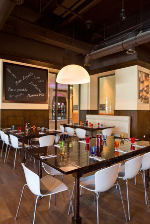 souk: Dubai, United Arab Emirates, 06062015, Urbano Italian Restaurant, Dubai Mall, souk al bahar, Downtown Dubai.