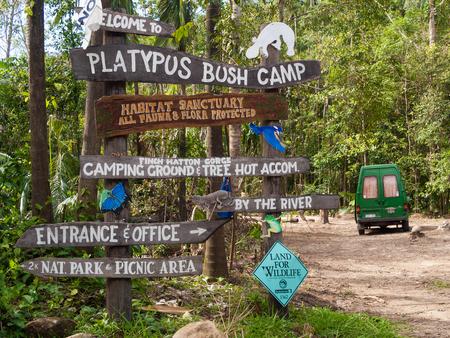 platypus: Queensland, Australia, 05052014, Platypus Bush Camp National Park, Finch hatton gorge, Eungella. Home of the platypus. Editorial