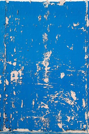 chipped paint: Blue dry peeling crackling chipped paint textured wall