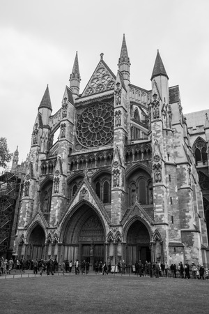 dom: london, england, 02022017 The gothic looking place of worship Westminster abbey in westminster london. Éditoriale