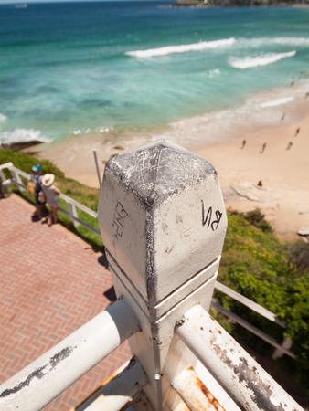 Sydney Bondi Beach, Australia, 03112013, Bondi beach staircase leading down to the beach