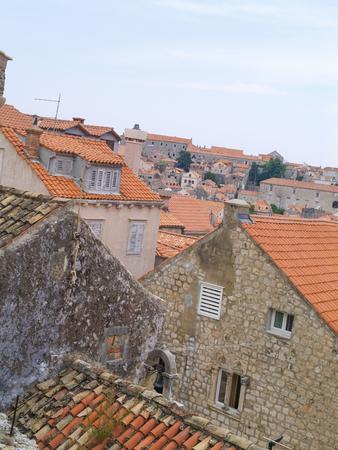 dubrovnik, Croatia, 06062016 Dubrovnik old town croatia, roof top view of houses Editorial
