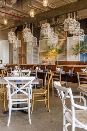 United Arab Emirates, Dubai, 07142014, Eat Greek restaurant interior shots, JBR the walk, The Beach,.