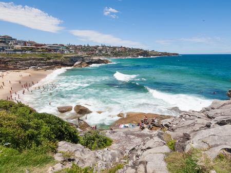Sydney, Australia, 07/07/2016, Bondi to Bronte Ocean Walk, Tamarama beach, New South wales. Beautiful blue sky on a warm summers day.