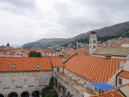 dubrovnik, Croatia, 06062016 Dubrovnik old town croatia, rooftop view