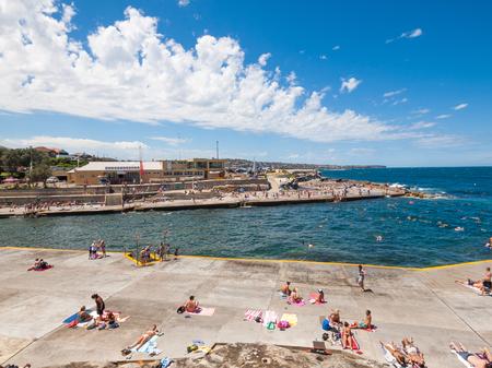 Sydney, Australia, 07072016, Bondi to Bronte Ocean Walk, Tamarama beach, New South wales. Beautiful blue sky on a warm summers day.