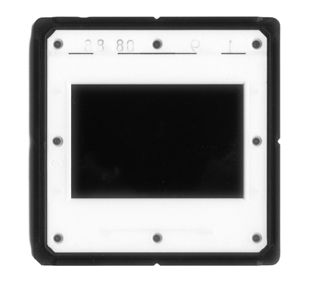 London, England, 06062016 Plastic Slide film mount isolated on a white background