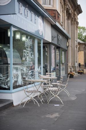 Lytham, England, 05/05/2018  Lytham stannes high street shopping street,  Le Roti sandwich shop in lytham stannes.