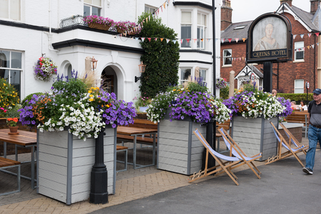 Lytham, England, 05/05/2018  The Queens Pub in lytham stannes on the promenade.