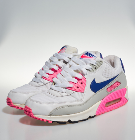 new products 67fc3 b5ad4 london, englabnd, 05/08/2018 Nike Air max 90s, White, pink, purple,..