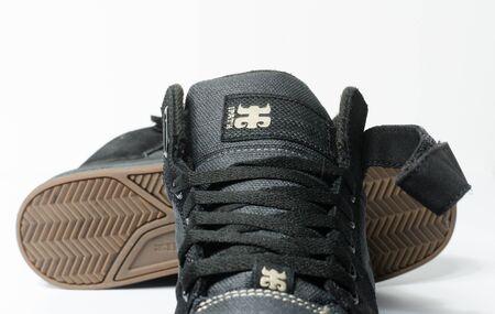 san fransisco, californie, 05/05/2019 Ipath Grasshopper Chaussures de skateboard en chanvre. chaussures de skateboard en chanvre noir très rares des années 90. chaussures végétaliennes hippies emblématiques.