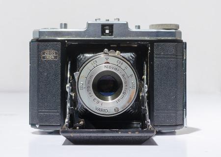 london, england, 05072018 Zeiss Ikon Nettar medium format camera, with bellow. vintage medium format photographic equipment.