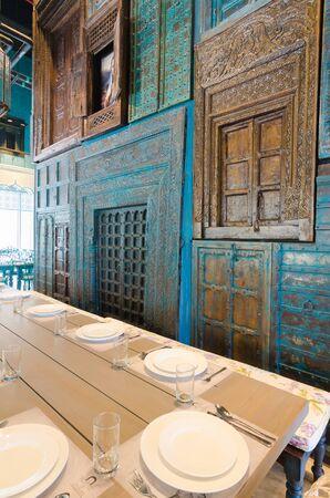 Dubai, United Arab Emirates, 04292016, House of Curry indian restaurant interiors, Dubai, JBR, The Walk Banco de Imagens