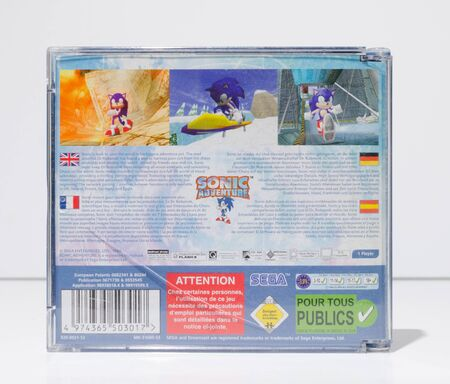 london, england, 05/09/2019 sonic the hedgehog sonic adventure Sega dreamcast arcade console video game dvd. Retro vintage iconic collectable computer games for obsolete consoles