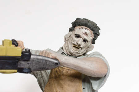 london, england, 05/05/2018 Texas chainsaw massacre large 18 inch collectable action figure. Leatherface