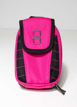london, england, 05/05/2020 An official vintage nintendo ds pink carry case for the nintendo handheld video gaming systems. Vibrant pink fashionable bag.