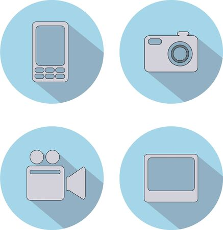 technology: Icons with technology Illustration