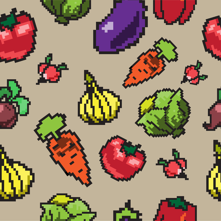 vegatables: Seamless pattern with vegetables