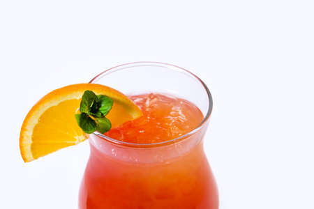 Orange cocktail with orange on the edge of the glass Stok Fotoğraf