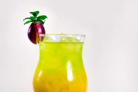Cocktail Drink. Green cocktail with grape.
