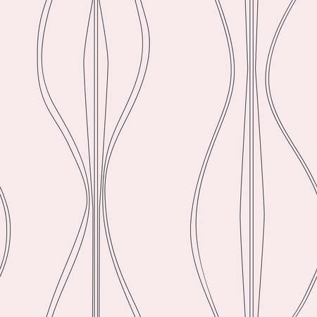 Mid-century light pink curvy shapes Illustration