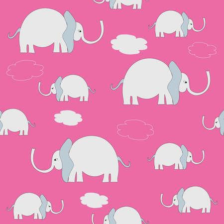 Elephant in the room in pink Ilustração
