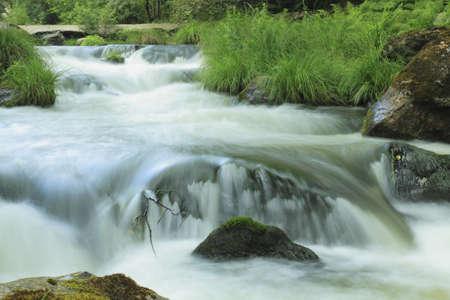 the rapids: Close up of the Umia River forming rapids, Caldas, Galicia, Spain