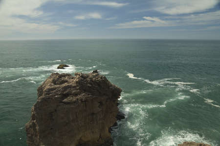 Ocean view from Cliff, Nazare, Portugal Stock Photo - 15051778
