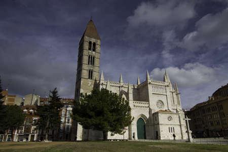 Ghotic Church of La Antigua in Valladolid, Spain