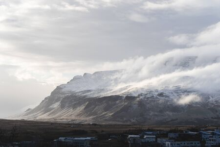 Road views in windy Iceland