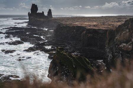 Londrangar in spring Iceland 2018
