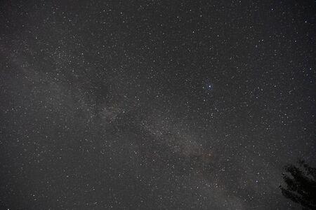 Night sky over the lake 스톡 콘텐츠