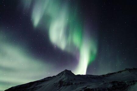 Beautiful aurora borealis northern lights show in February 2018 免版税图像
