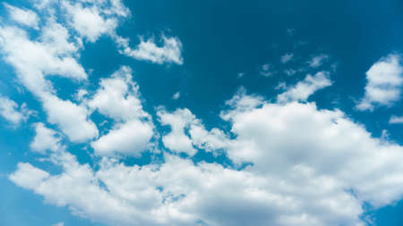 blue sky on sunny day with white clouds
