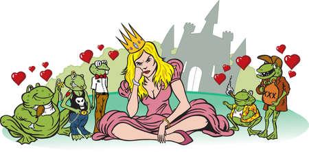 princess frog: Disappointed Princess