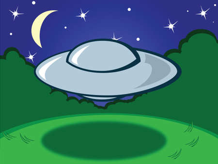 nightime: Hoverin UFO