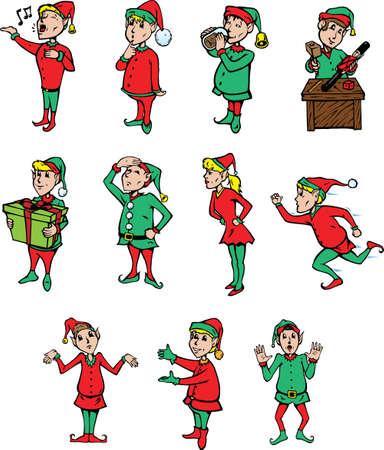 Elves being elves Illustration