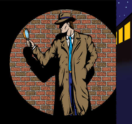 Old style Detective, such as from the fifties.  Vector