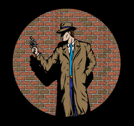 huligán: Old style Detective, such as from the fifties. Illusztráció