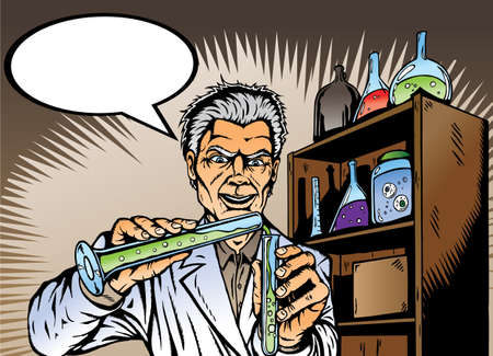 Mad Scientist  Stock Illustratie