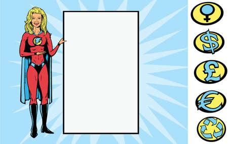 Supersign girl Vettoriali