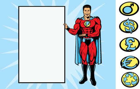 Supersign guy Vector