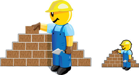 Bricklayer dude Stock Vector - 4476564
