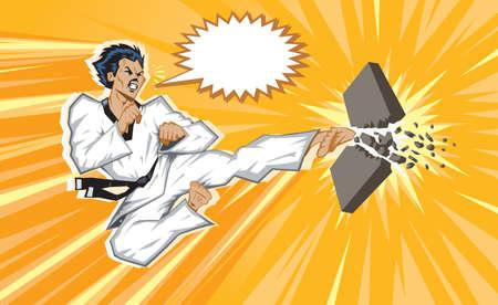 sidekick: Wild jumping side kick.