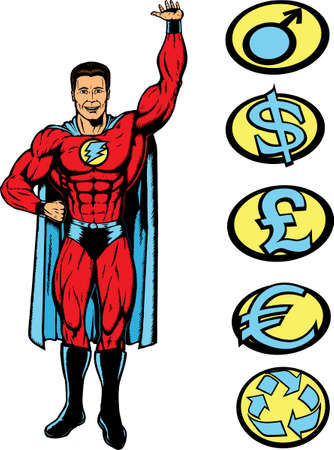 Superlifting guy, can be lifting anything. Stock Vector - 4537880