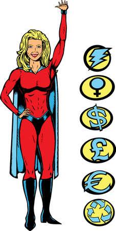 Super lifting girl Vector