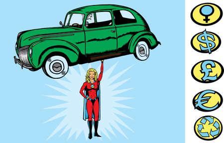 スーパーカーの女の子
