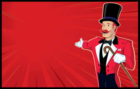 Circus Announcer with background Vector
