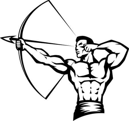arco y flecha: Archer estilizado